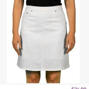 Hearts of Palms Womens' Skort White Size 14